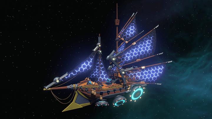 Ship with Solar Sails