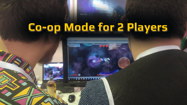 Co-op mode for 2 players